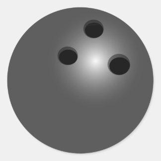 Bowling Ball Classic Round Sticker