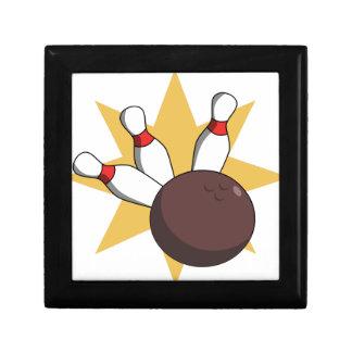 Bowling Ball Hitting Pins Gift Box