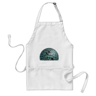 Bowling Ball Leopard Teal Apron