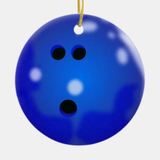 Bowling Ball Ornament (Blue)