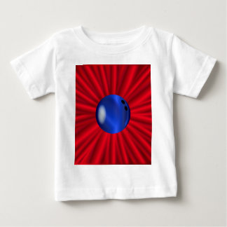 Bowling Ball Over Red Baby T-Shirt