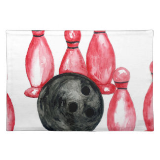 Bowling Ball Sketch2 Placemat