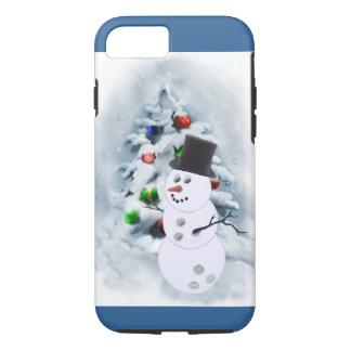 Bowling Ball Snowman Christmas iPhone 7 Case