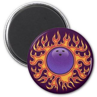 Bowling Balls-o-Fire 6 Cm Round Magnet