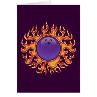 Bowling Balls-o-Fire Greeting Card