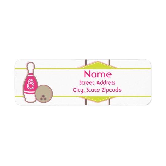 Bowling Birthday Address Label