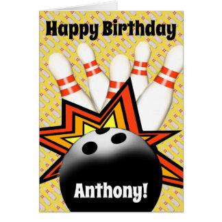 Bowling Birthday Card