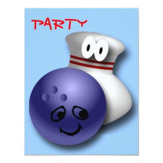 Bowling Birthday Party 11 Cm X 14 Cm Invitation Card