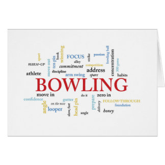 Bowling Birthday with Words Card