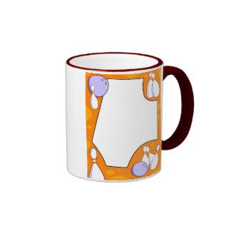 Bowling Border Coffee Mugs