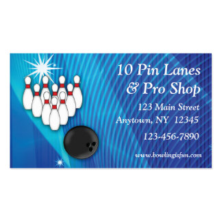 Bowling Business Card