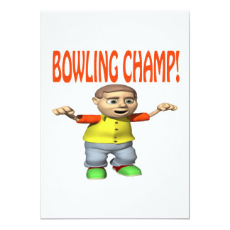 Bowling Champ 13 Cm X 18 Cm Invitation Card