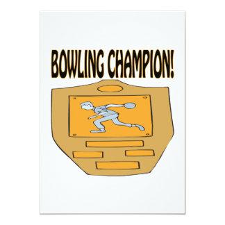 Bowling Champion 13 Cm X 18 Cm Invitation Card