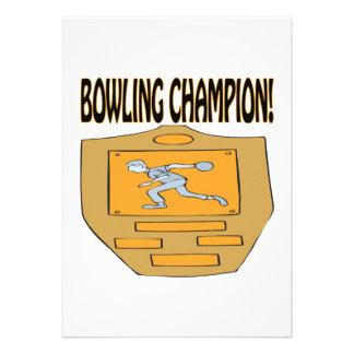 Bowling Champion Custom Invites