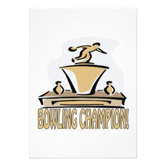 Bowling Champion Announcements