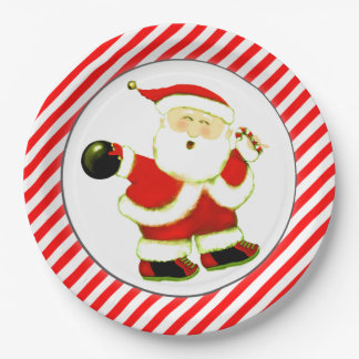 bowling Christmas Paper Plate