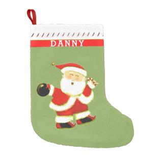 Bowling Christmas Small Christmas Stocking