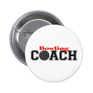 Bowling Coach 6 Cm Round Badge