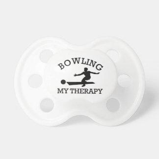 bowling design pacifier