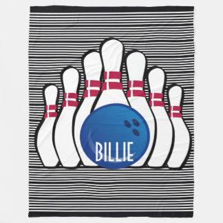 Bowling Design Fleece Blanket