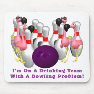 Bowling: Drinking Team Mouse Pad