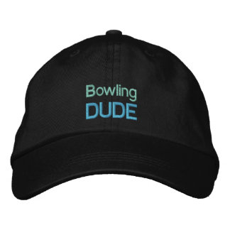 BOWLING DUDE cap Embroidered Baseball Caps