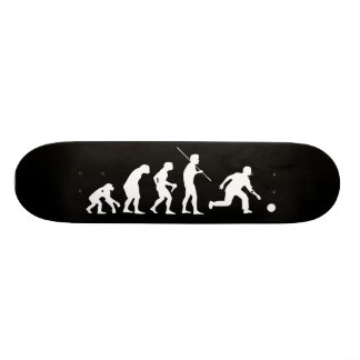 Bowling Evolution from Man to Bowler 20 Cm Skateboard Deck