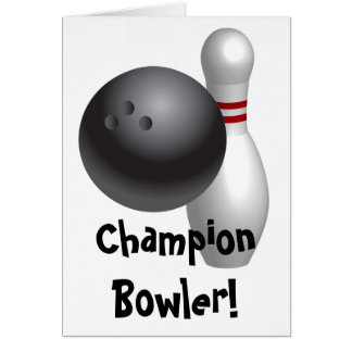 Bowling Fathers Day Card