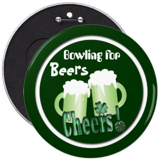 Bowling for Beers 6 Cm Round Badge