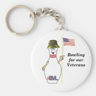 Bowling for our Veterans Basic Round Button Key Ring