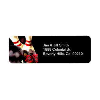 Bowling Gear Grunge Style Return Address Label