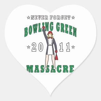 Bowling Green Massacre 2011 Heart Sticker