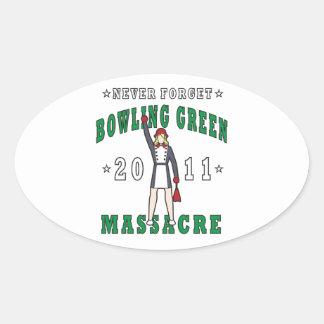 Bowling Green Massacre 2011 Oval Sticker