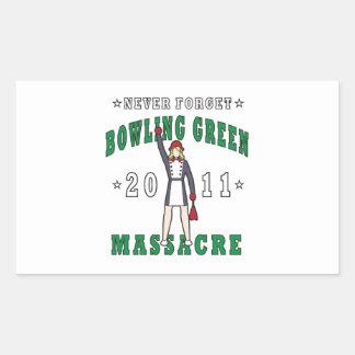 Bowling Green Massacre 2011 Rectangular Sticker