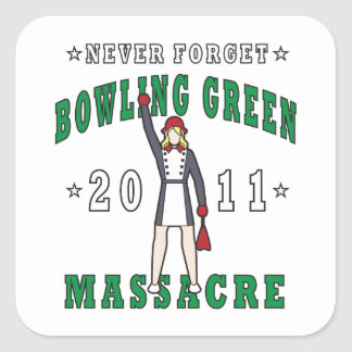 Bowling Green Massacre 2011 Square Sticker