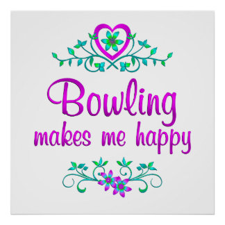 Bowling Happy Poster