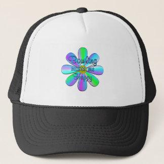 Bowling Happy Trucker Hat
