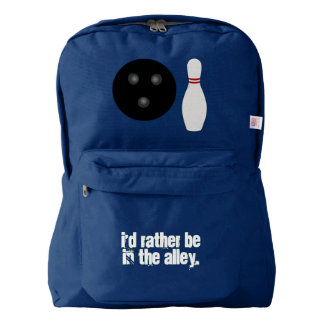 Bowling I'd Rather Be in the Alley Backpack