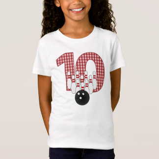 BOWLING Inspired 10th BIRTHDAY Tee