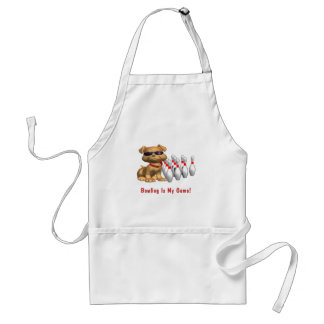 Bowling Is My Game Puppy Standard Apron