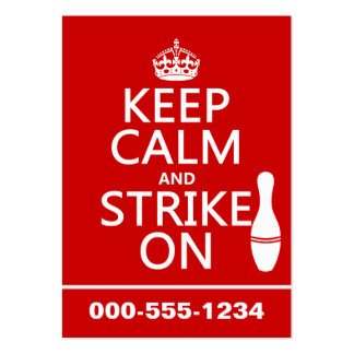 Bowling - Keep Calm and Strike On - all colors Pack Of Chubby Business Cards