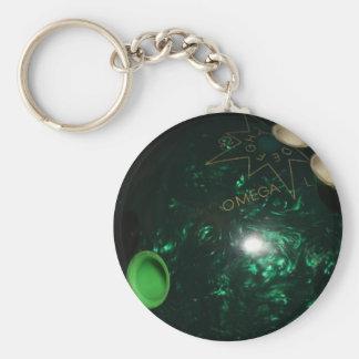 Bowling Basic Round Button Key Ring