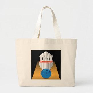 bowling large tote bag