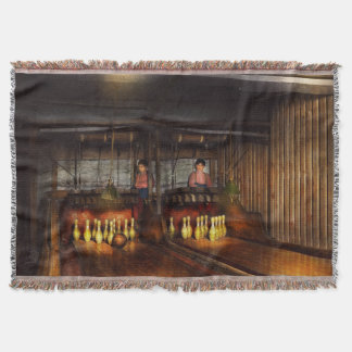 Bowling - Life in the gutter 1910 Throw Blanket