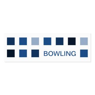 BOWLING (mod squares) Business Card