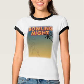 bowling night tee-shirt T-Shirt