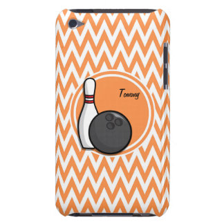 Bowling Orange and White Chevron iPod Touch Case