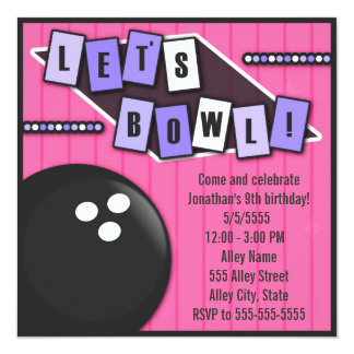 Bowling Party Birthday Card