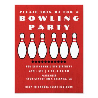 Bowling Party Boys 8th Birthday Party 11 Cm X 14 Cm Invitation Card