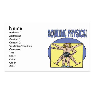 Bowling Physics Pack Of Standard Business Cards